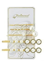 A Dozen 5-pc Faux Pearl Hair Clip Set