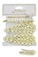 A Dozen 4-pc Faux Pearl Hair Clip Set