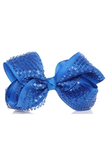 Dozen Assorted Color Sequin Bow Hair Clip