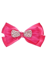 Dozen Assorted Color Rhinestone Bow Hair Clip