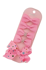 A Dozen Assorted Color 5-pc Alligator Clip Bow Set