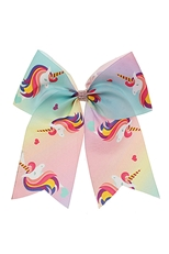 Dozen Unicorn Multi Colored Bow Hair Clip