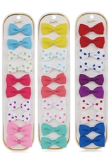 A Dozen Assorted Color 10-pc Alligator Clip Bow Set