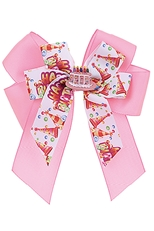 A Dozen Assorted Color Birthday Theme Alligator Clip Bow