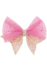 A Dozen Assorted Color Glitter Fashion Bow Hair Clip Hair Pin