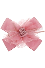 A Dozen Assorted Color Flower Accent Bow Hair Clip