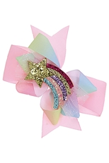 A Dozen Assorted Color Alligator Clip Fashion Hair Bow