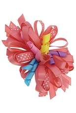 A Dozen Assorted Color Cheerleader Bow Hair Clip
