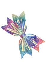 A Dozen Multi Colored Bow Hair Clip