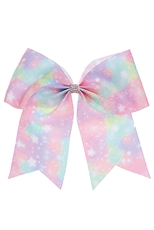 A Dozen Multi Tone Star Print Bow Hair Clip Hair Pin