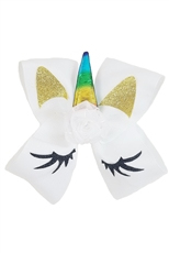 A Dozen Assorted Color Unicorn Bow Hair Clip