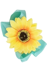 A Dozen Assorted Color Sunflower Accent Bow Hair Clip
