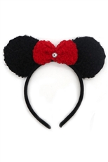 A Dozen Assorted Color Faux Fur Animal Ear Headband
