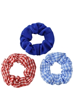 A Dozen Assorted Color 3-pc Multi Scrunchie Set