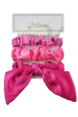 A Dozen Assorted Color 4-pc Scrunchies Set