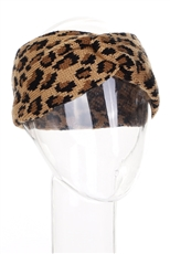 A Dozen Assorted Color Leopard Knitted Headwrap