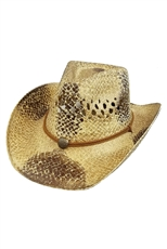 A Dozen Assorted Color Wide Brim Straw Cowboy Hat