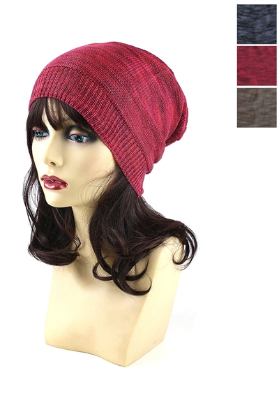 Dozen Assorted Color Knitted Beanies