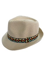 DZ Pack Assorted Color Aztec Band Fedora