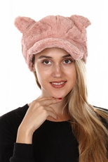 DZ Pack Assorted Color Soft Fur Cat Ear Hat