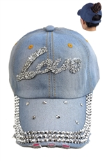 Ponytail Denim Cap