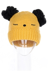A Dozen Assorted Color Pom Pom Animal Theme Beanies