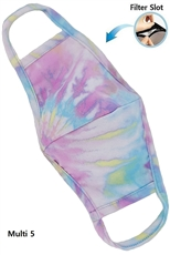 Reusable Tie Dye Mask with Filter Slot