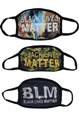 BLM Print Sublimated Cotton Mask