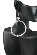 Crystal Beaded Hoop Dangle Earring