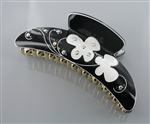 Butterfly Engraved Long Hair Claw Clip
