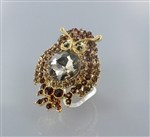 Rhinestone Owl Stretch Ring