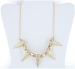 Rhinestone Spike Chain Necklace