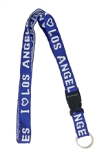 Dozen Assorted Color I LOVE LA Lanyard