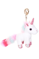 Plush Unicorn Key Chain