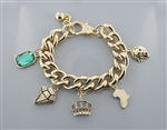 Assorted Charm Chain Bracelet