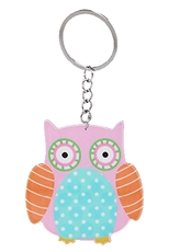 Dozen Assorted Color Owl Key Chains