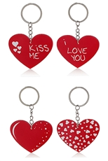 A Dozen Assorted Heart Key Chain