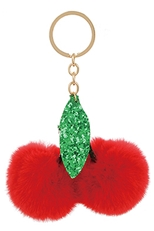 A Dozen Assorted Color Fruit Key Ring