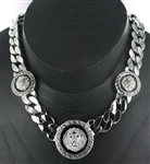 3 Pendant Lion Head Chain Necklace