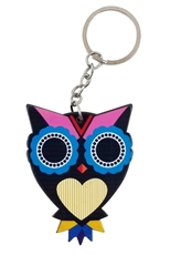 Dozen Assorted Color Sugar Skull Owl Key Chains
