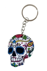 Dozen Assorted Color Sugar Skull Key Chains