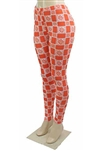 Checker Printed High Waist Fashion Leggings