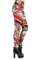 Fashion Print High Waist Fashion Leggings