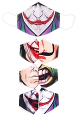 20-pc Assorted Cartoon Mouth Reusable Mask