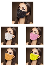 A Dozen Assorted Color Multi Stone Dust Proof Mask