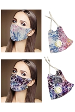 A Dozen Assorted Color Respirator Dust Proof Fashion Mask