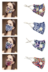A Dozen Assorted Color Tie Dye Respirator Dust Proof Fashion Mask