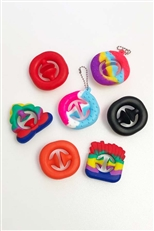 A Dozen Assorted Color Silicone Snappers Fidget Toy