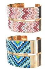 Dozen Assorted Color Tribal Cuff Bangle