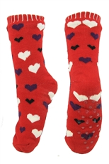 A Dozen Assorted Color Heart Anti-skid Winter Slipper Socks